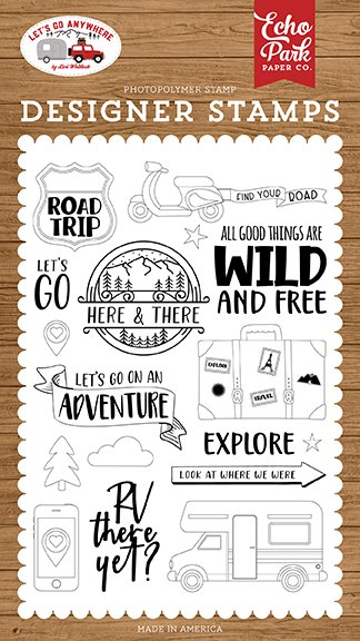 Echo Park - Stamps - Let's Go Anywhere - Road Trip