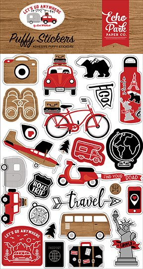 Echo Park - Let's Go Anywhere - Puffy Stickers