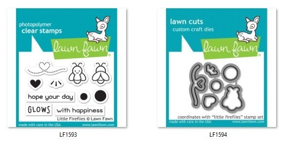 Lawn Fawn - Little Fireflies Stamp and Die Combo
