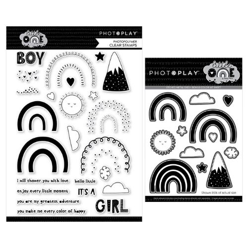 PhotoPlay - Little One - Rainbows Stamp and Die Bundle