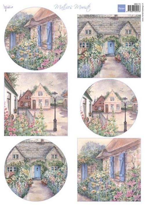 Marianne Designs A4 Cutting Sheet - Mattie's Mooiste: Cottages