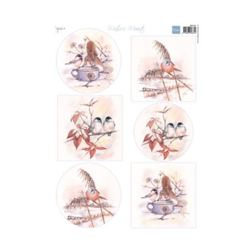 ^Marianne Designs - A4 Cutting Sheet - Mattie's Mooiste Winter Birds
