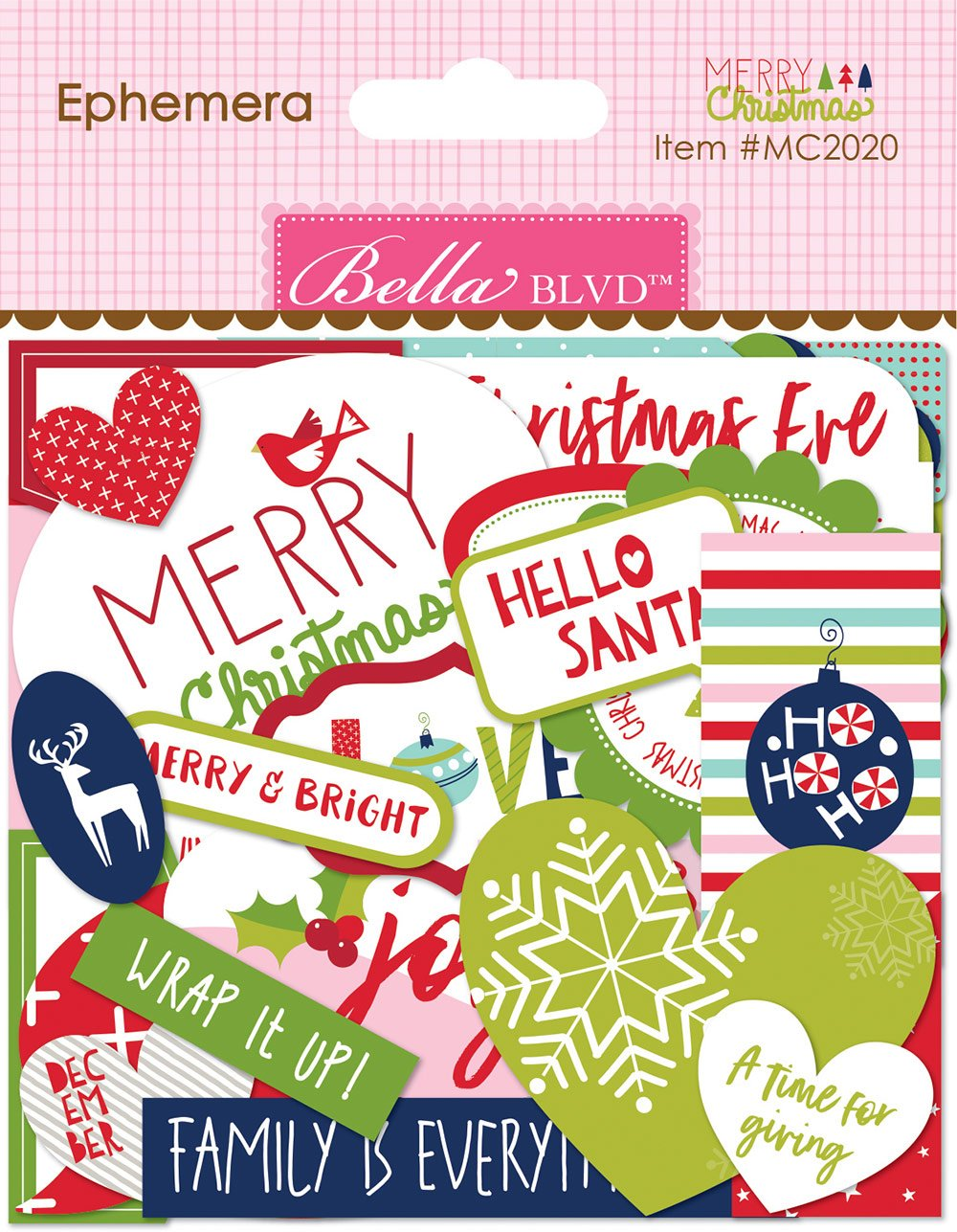 Bella Blvd - Merry Christmas - Ephemera Words