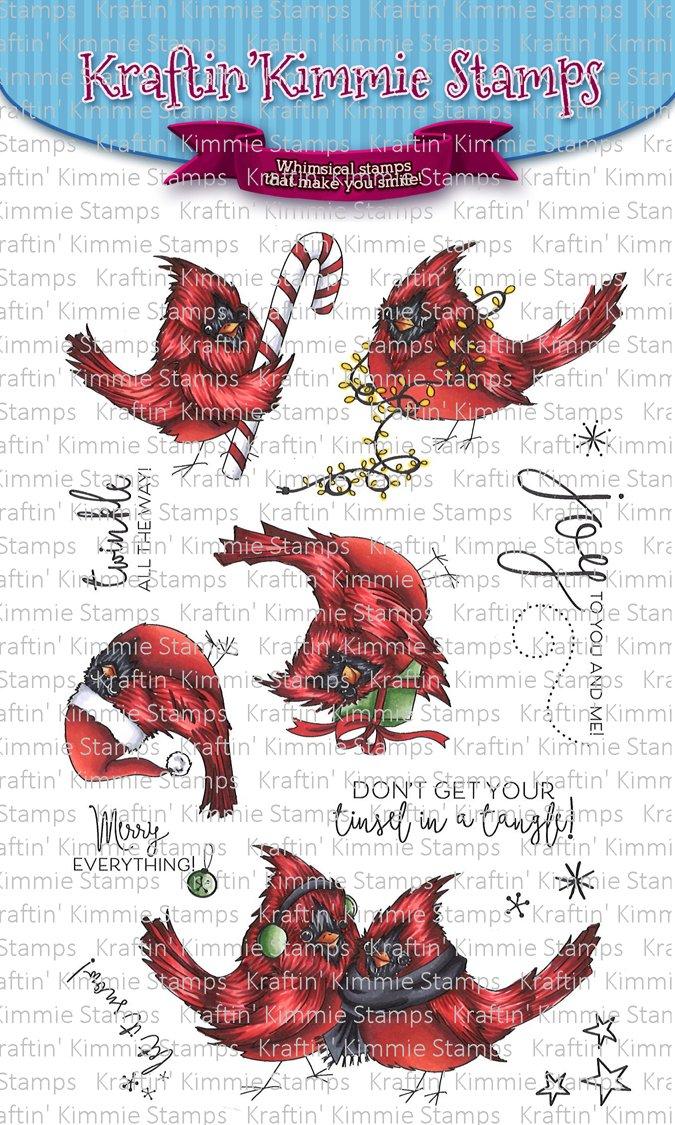 ^Kraftin' Kimmie - Stamps - Merry & Bright Biridies