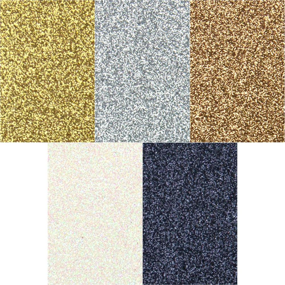 Non-Shed Glitter Cardstock - Metallics Assortment, 6x6