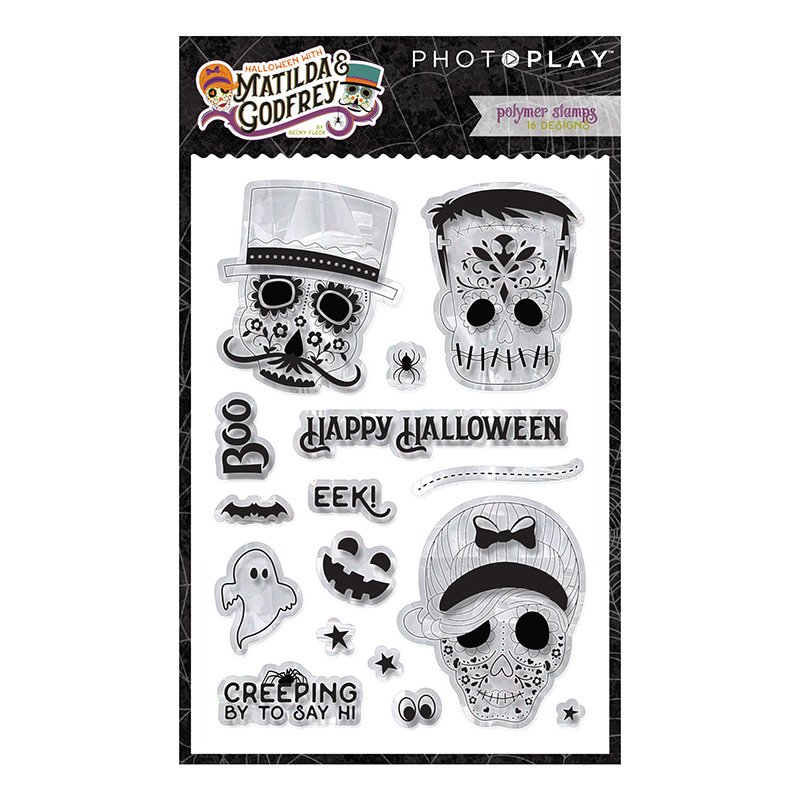 PhotoPlay - Halloween with Matilda and Godfrey Stamp Set