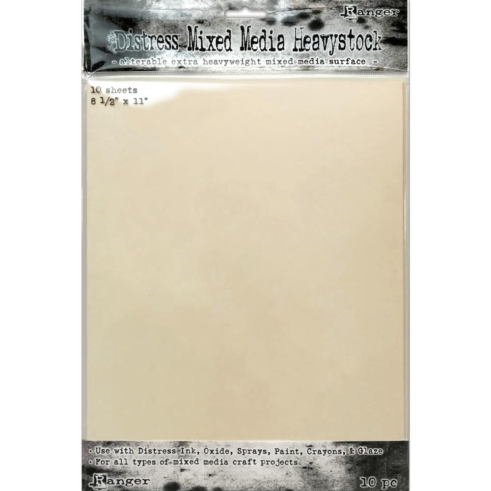 Tim Holtz - Distress MIxed Media Heavystock, 8-1/2 x 11,  10 Sheets/Pack