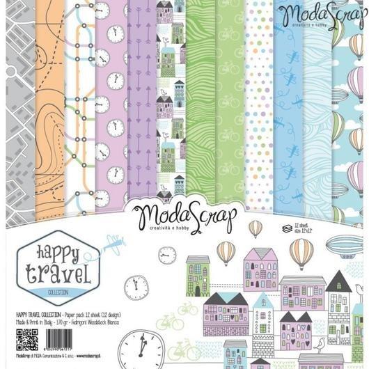 ^ModaScrap Happy Travel - 12x12 Paper Pack