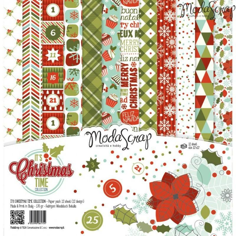 Moda Scrap - It's Christmas Time Collection - 12x12 Paper Pack