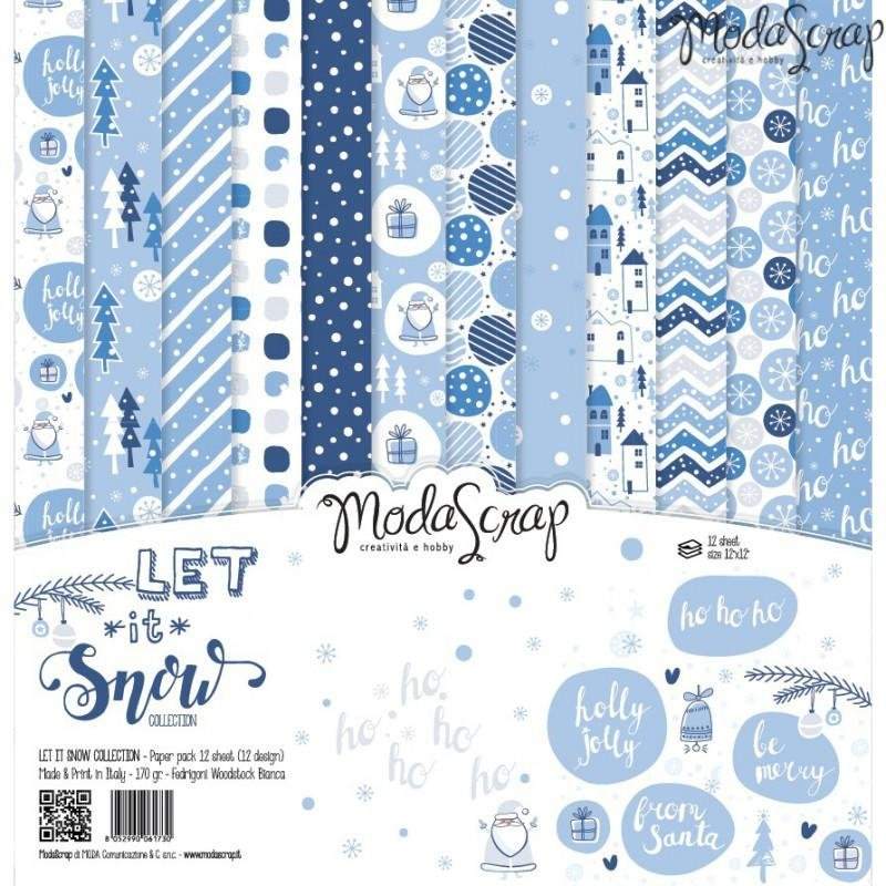 Moda Scrap - Let it Snow Collection - 12x12 Paper Pack