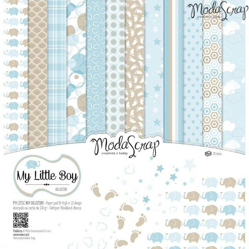Moda Scrap - My Little Boy Collection - 12x12 Paper Pack