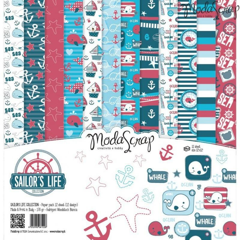 Moda Scrap - Sailor's Life Collection - 12x12 Paper Pack