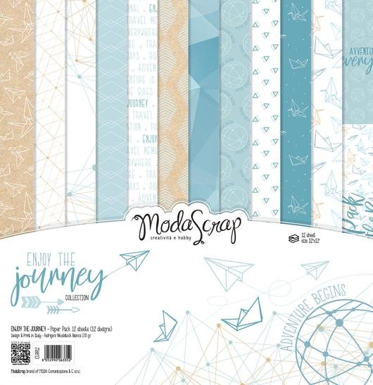 ^ModaScrap Enjoy The Journey - 12x12 Paper Pack (CLEARANCE)