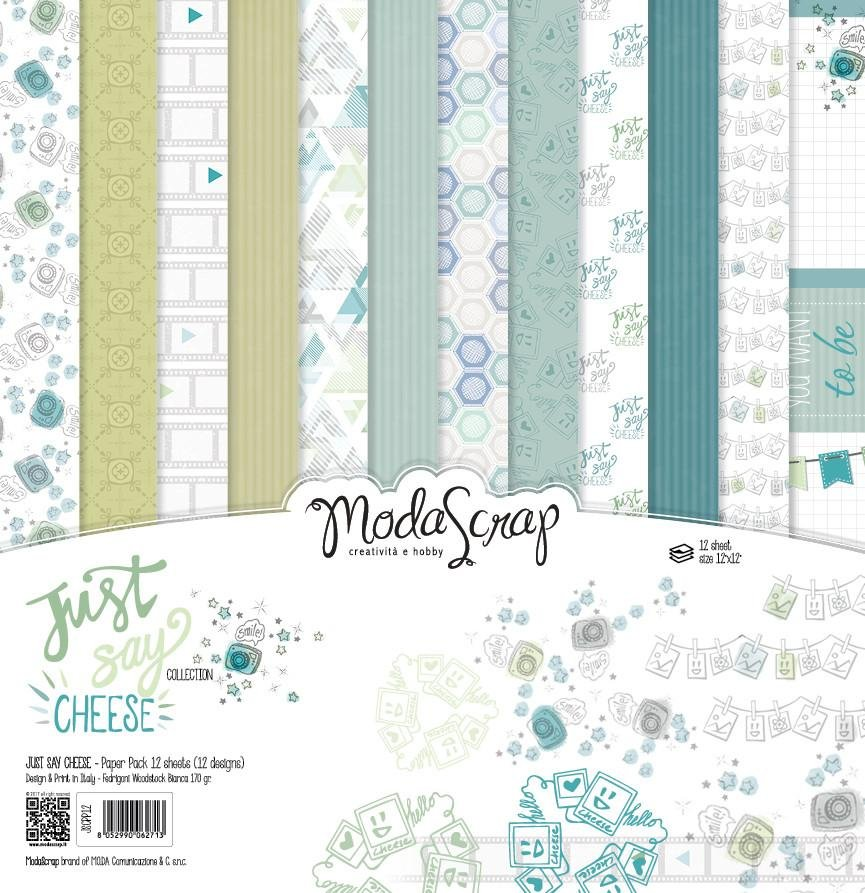 ^ModaScrap Just Say Cheese - 12x12 Paper Pack (CLEARANCE)