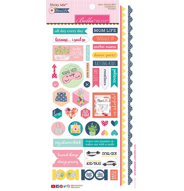 ^Bella Blvd - Mom Life - Cardstock Stickers