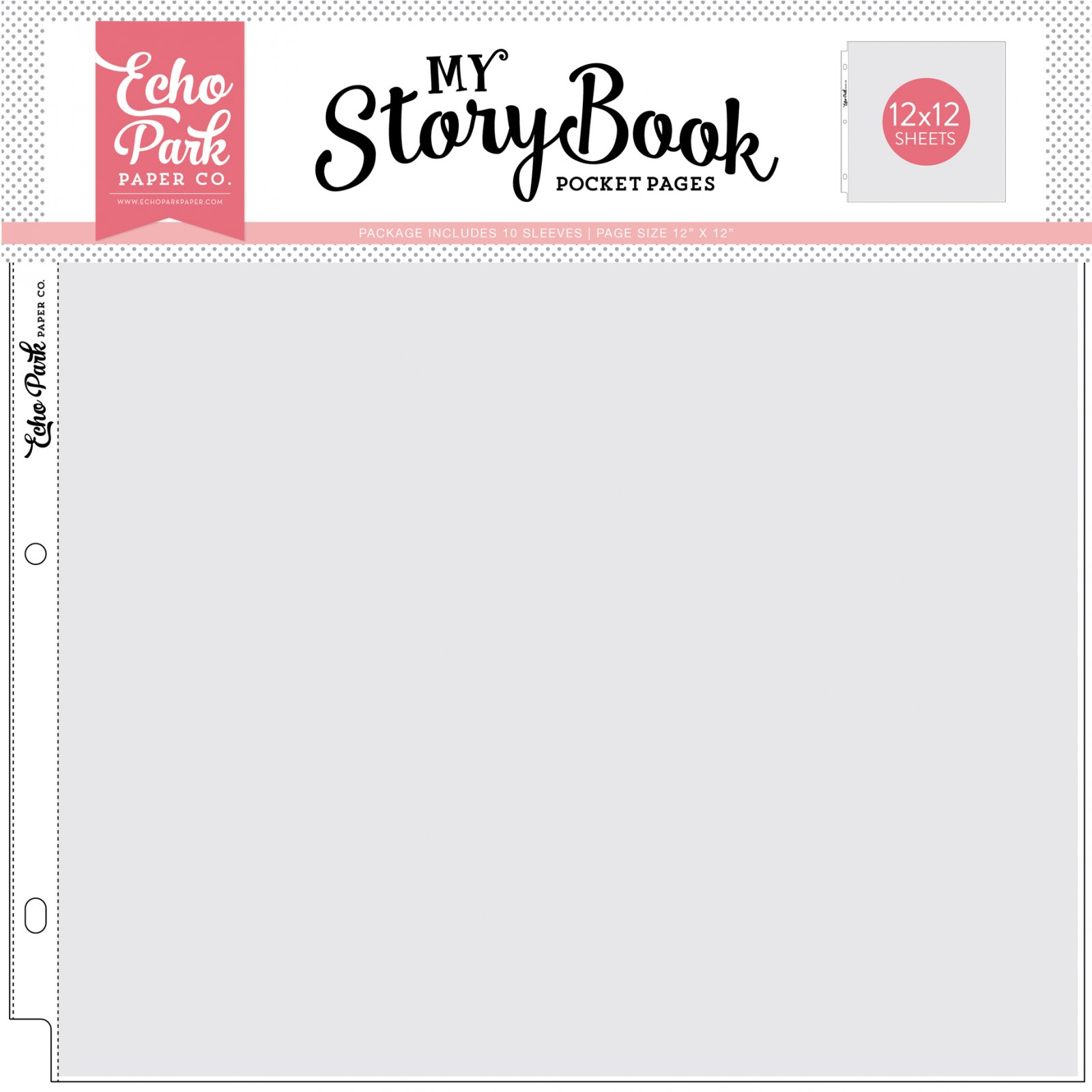 Echo Park My Story Book - 12x12 Pocket Pages, 10/Pkg