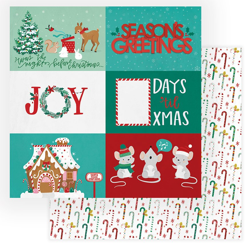 Not A Creature Was Stirring - 12x12 Double-Sided Paper - Seasons Greetings (PhotoPlay)