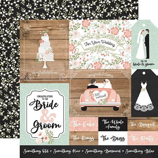 Echo Park Our Wedding - Multi Journaling Cards