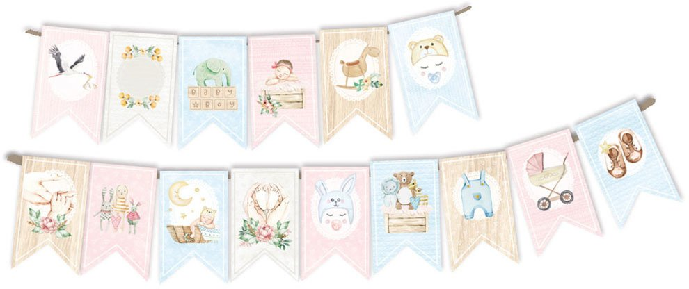 P13 Baby Joy - Paper Die Cut Garland, 15pcs