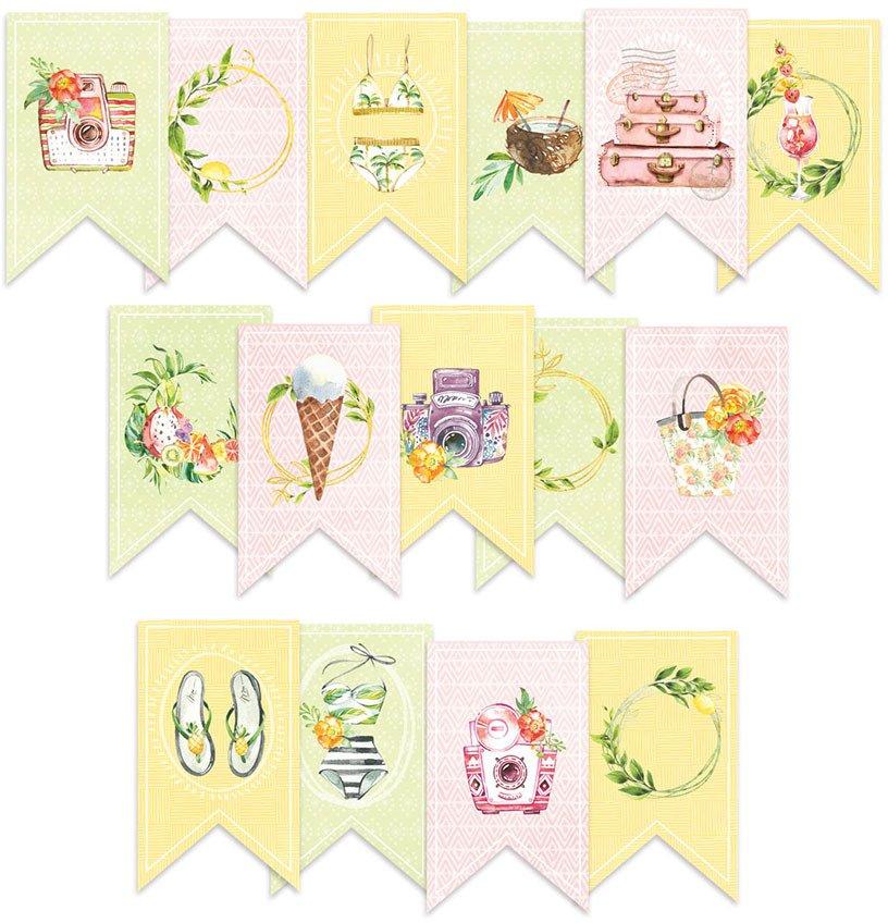 P13 Sunshine - Paper Die Cut Garland