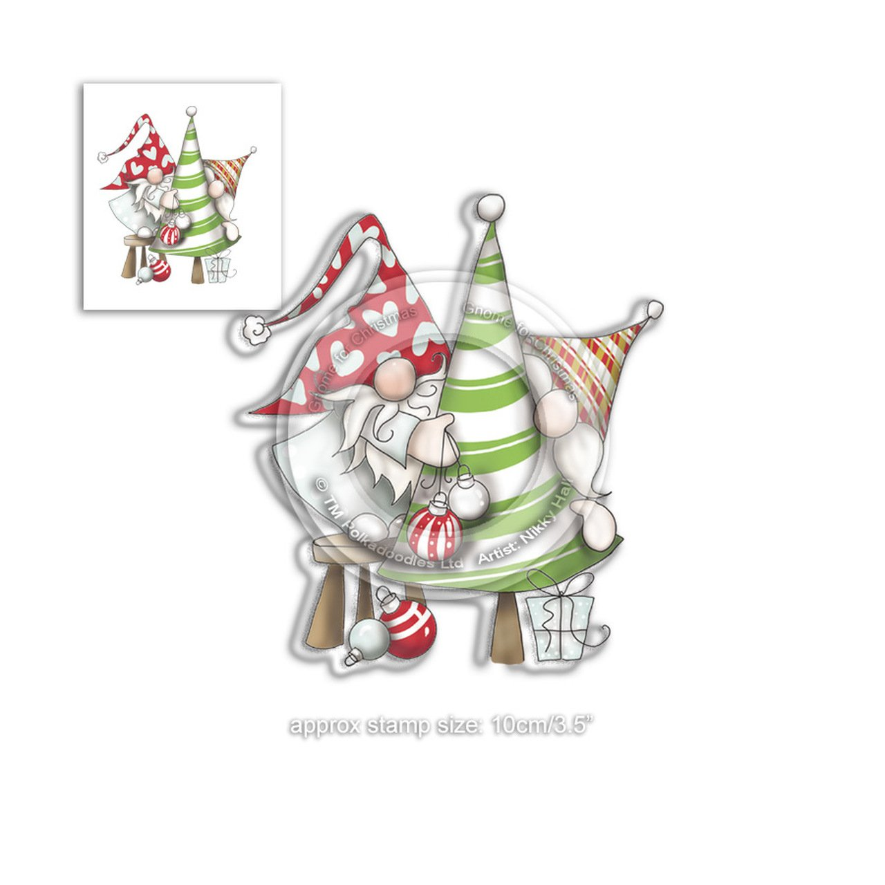Polkadoodles - Stamps - DECORATING THE TREE - Gnome For Christmas Collection