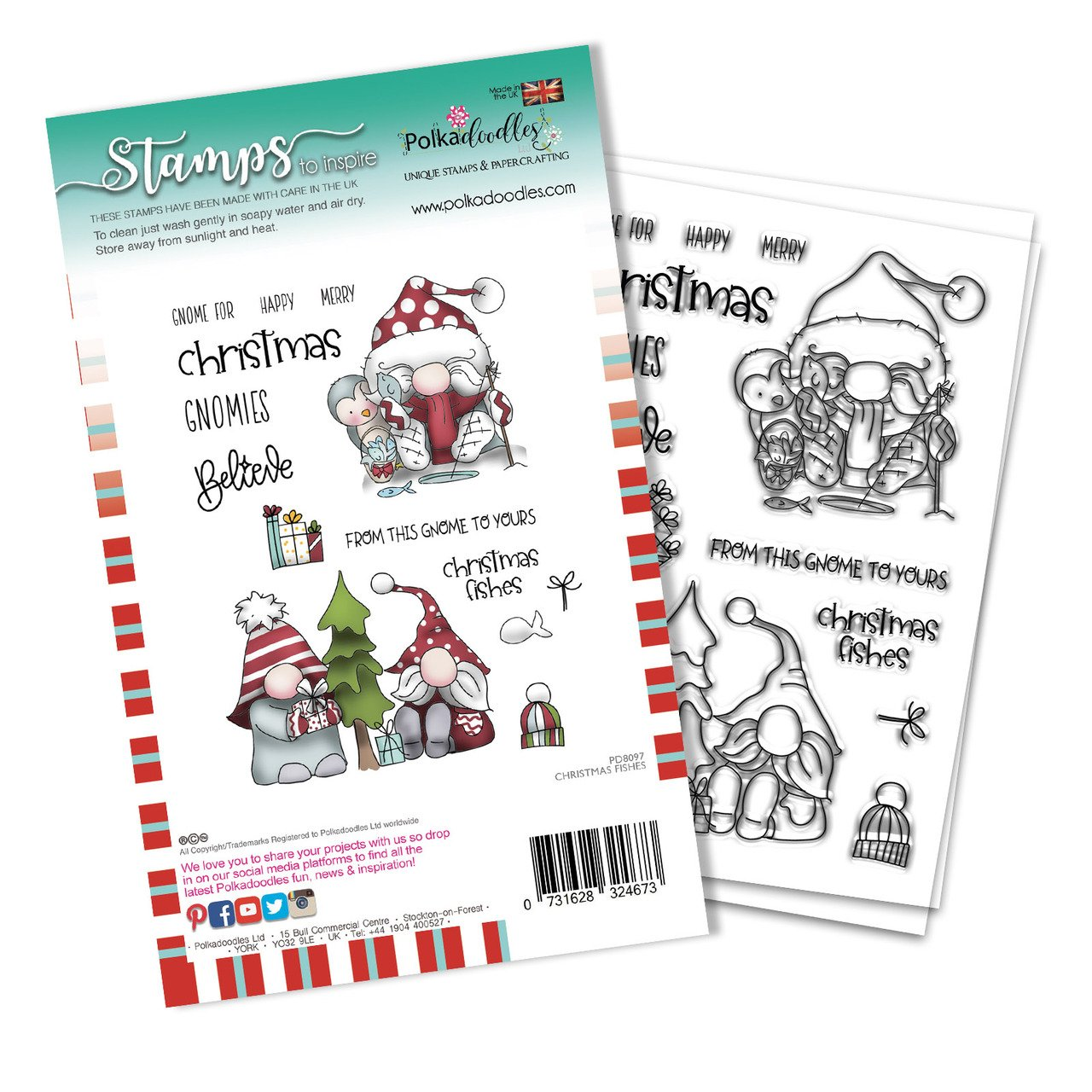 Polkadoodles - Stamps - Christmas Fishes