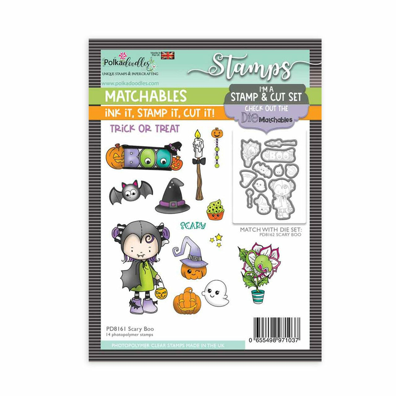 Polkadoodles - Stamps - Scary Boo