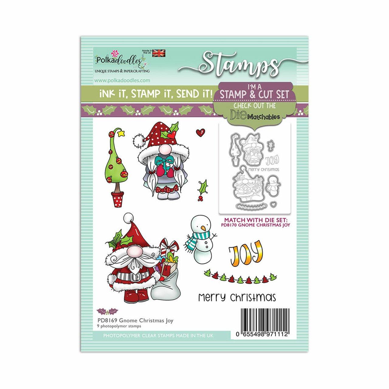 Polkadoodles - Stamps - Gnome Christmas Joy