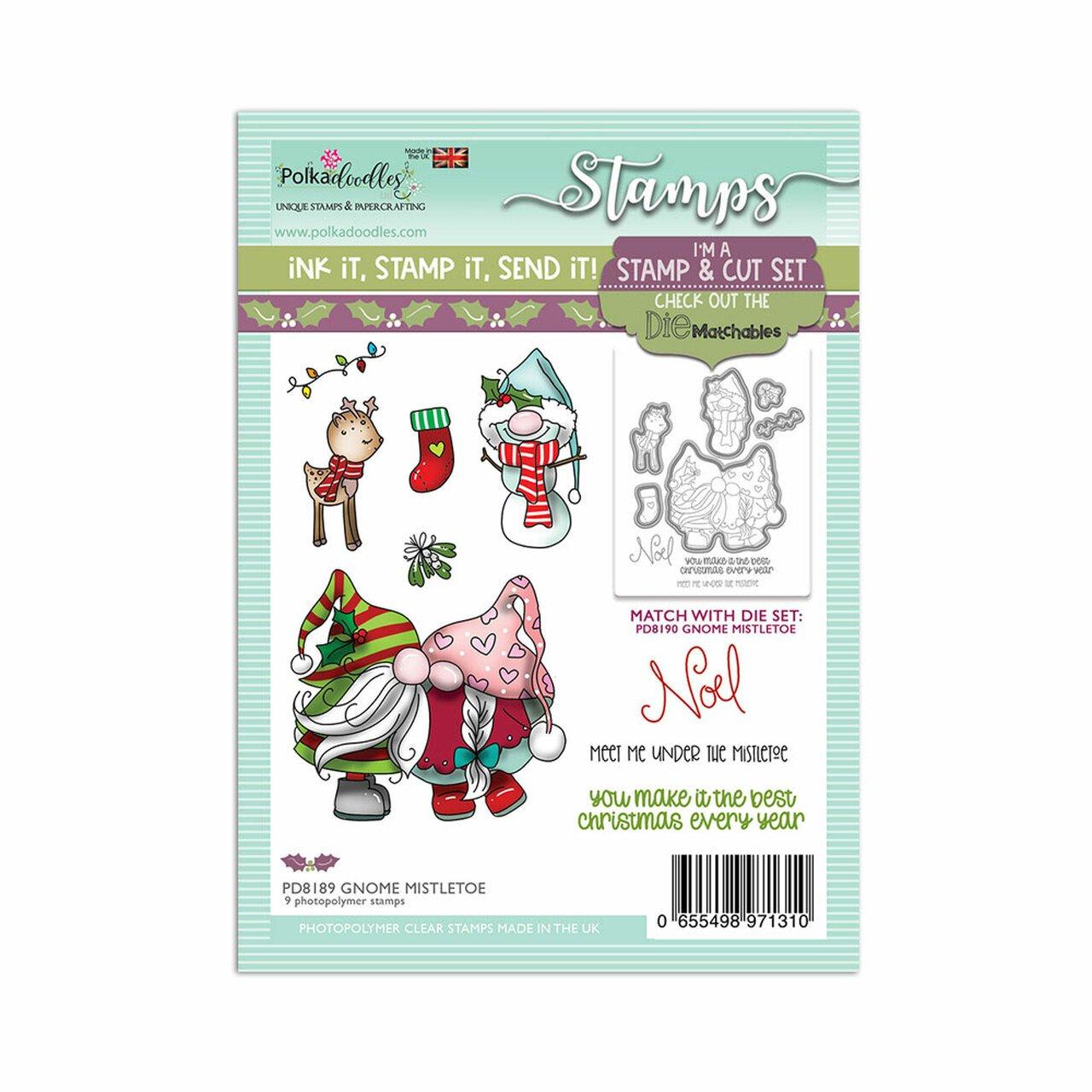 Polkadoodles - Stamps - Gnome Mistletoe