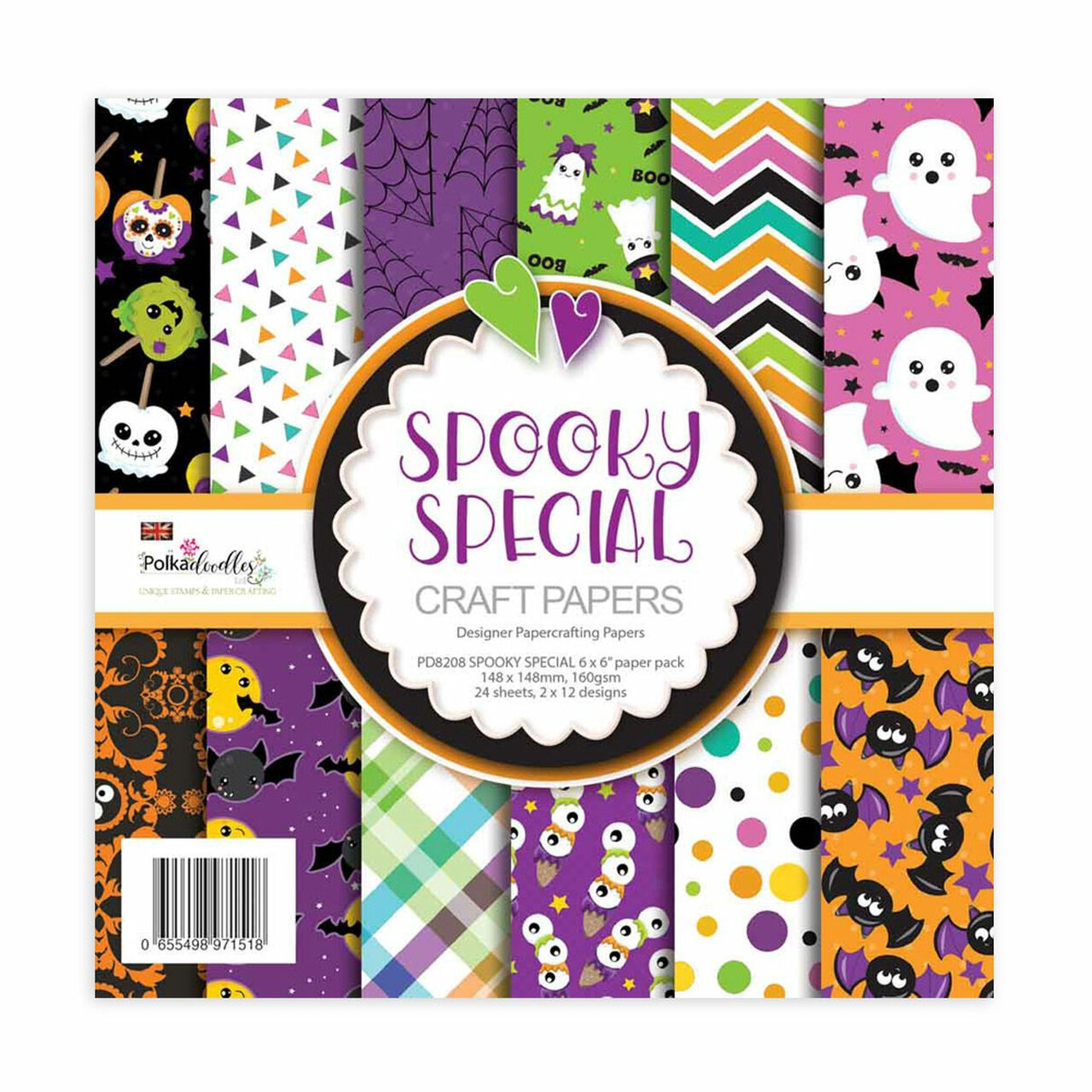 Polkadoodles - Spookly Special - 6x6 Paper Pack