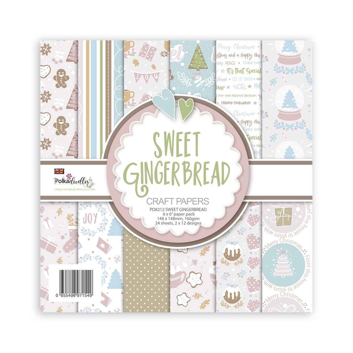 Polkadoodles - Sweet Gingerbread - 6x6 Paper Pack