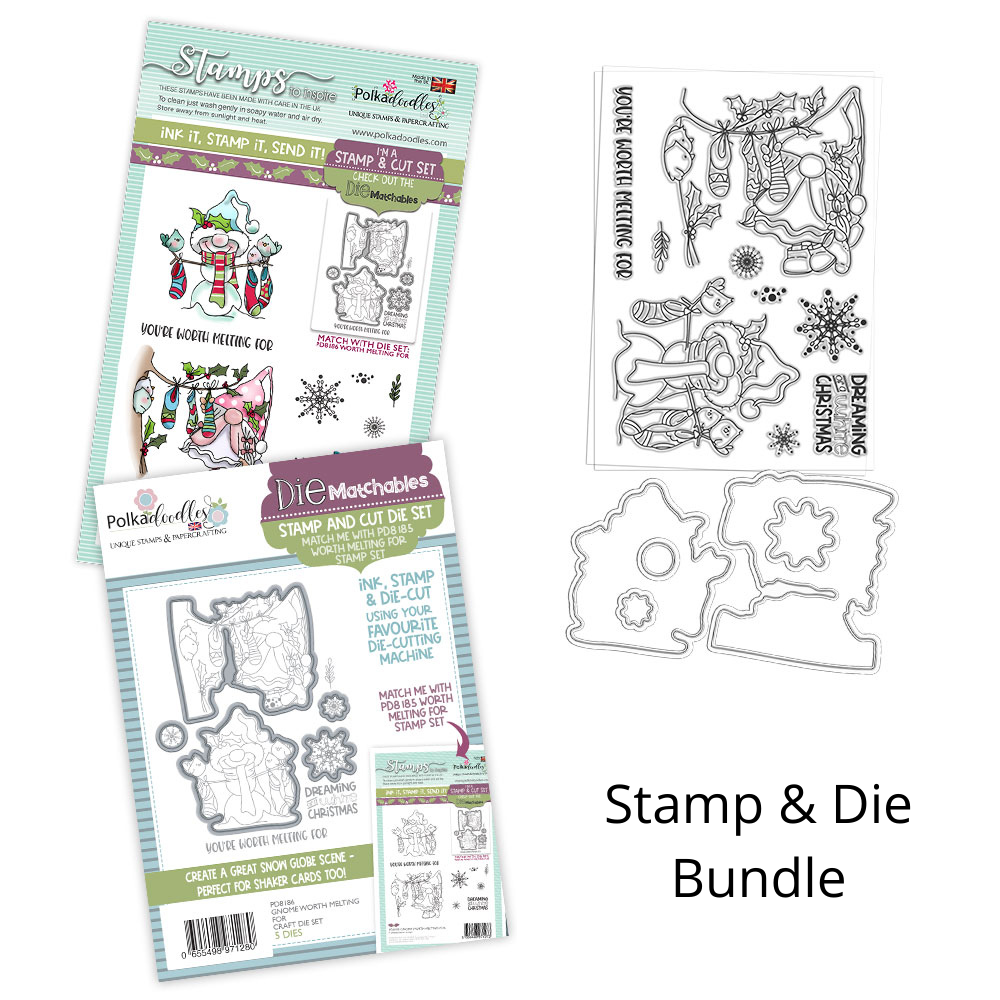 Polkadoodles - Gnome Worth Melting For - Stamp and Die BUNDLE