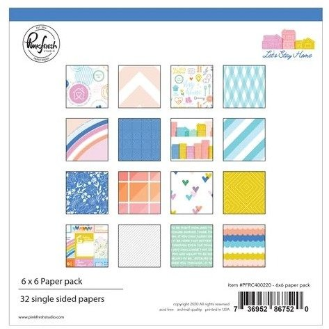 ^PinkFresh - Let's Stay Home - 6x6 Paper Pad