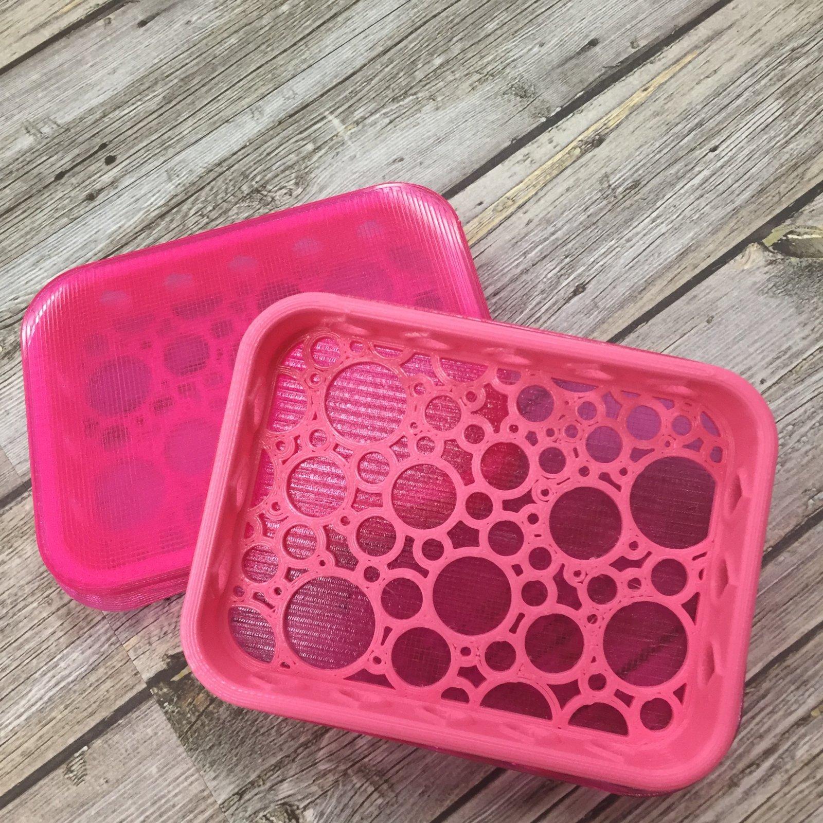 Stamp Shammy Case - Pink, Bubble