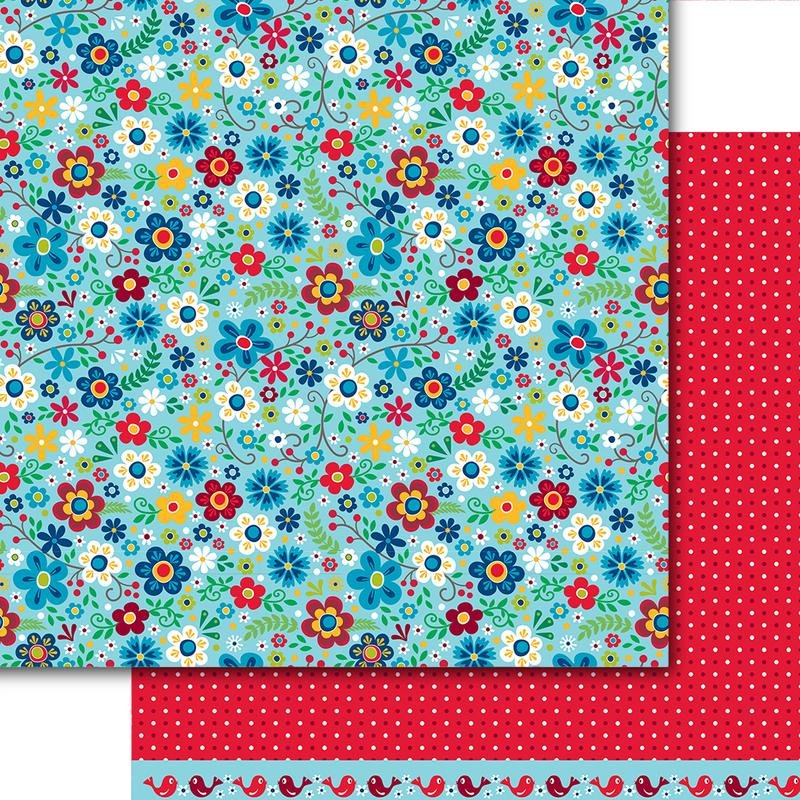 Dare 2B Artzy - Merry & Bright - BRIGHT BLOOMS - 12x12 Double-Sided Paper