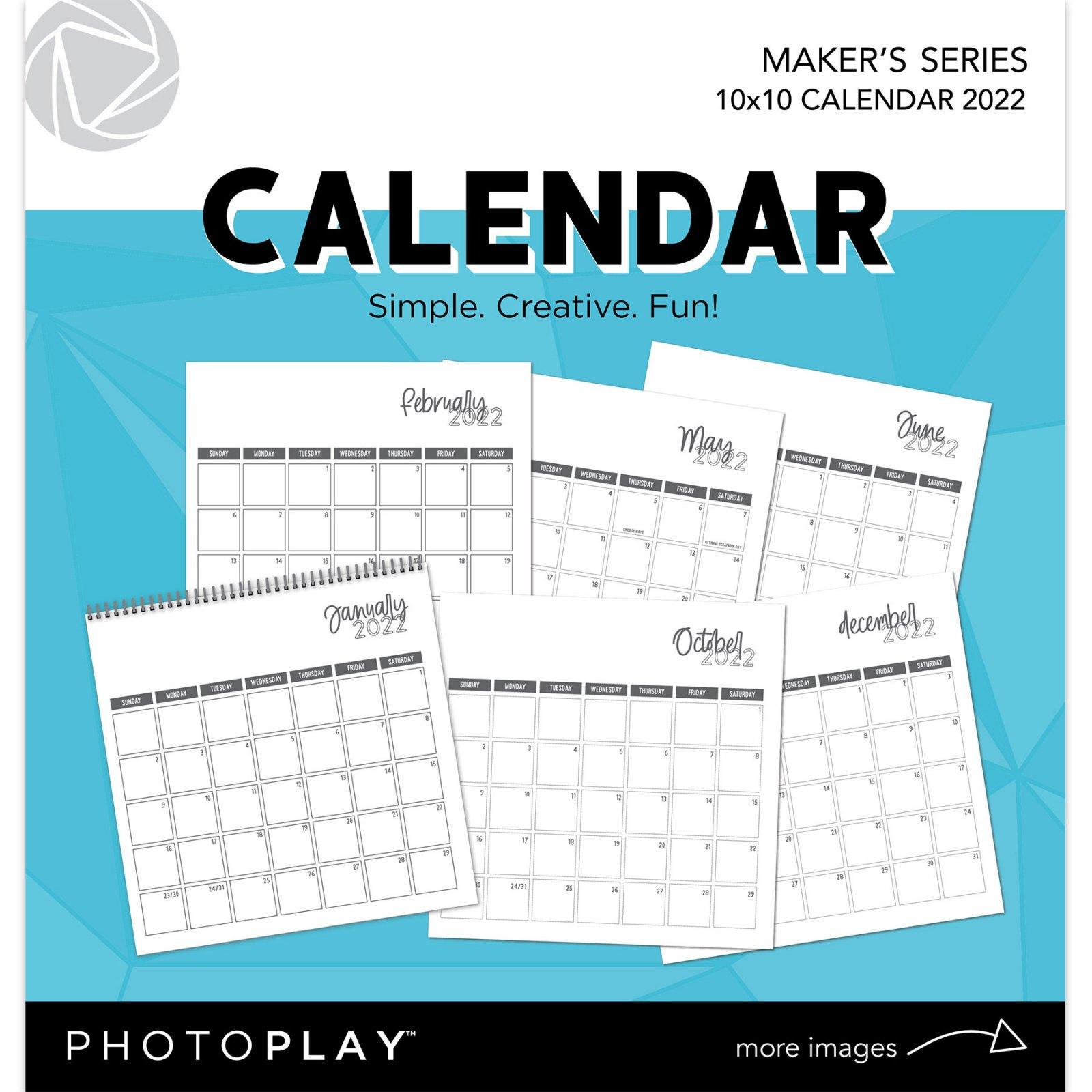 PhotoPlay - 10x10 Calendar, 2022