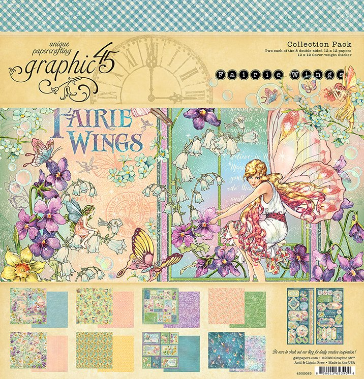 Graphic 45 - Fairie Wings - 12x12 Collection Pack