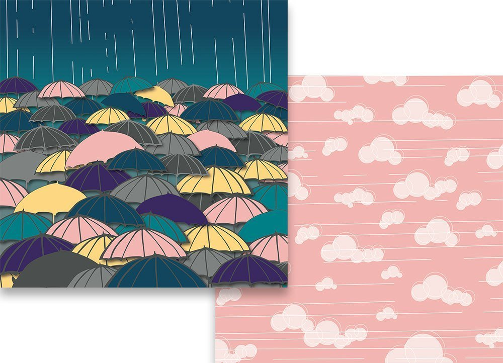 Finders Keepers - Puddle Jumper Raining 12x12 Paper