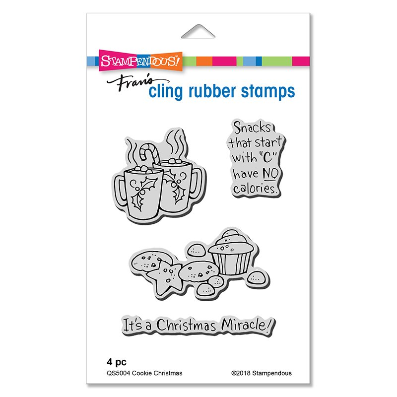 ^Stampendous - Cookie Christmas Stamp and Die Set (CLEARANCE)