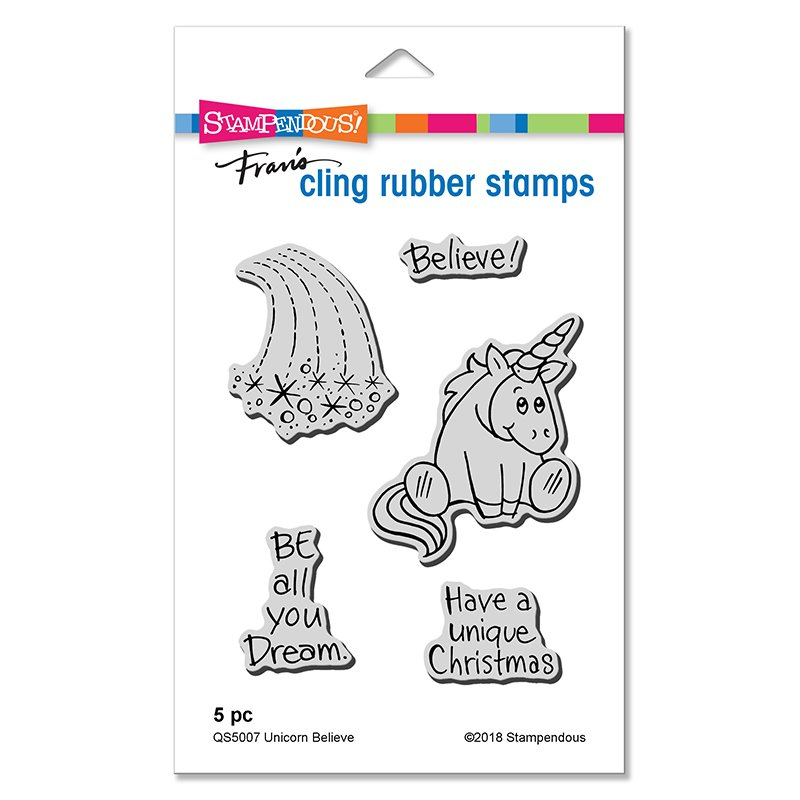 --Stampendous - Unicorn Believe Stamp and Die Set
