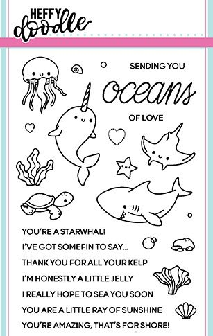 ^Heffy Doodle - Oceans of Love Stamp and Die Combo Set