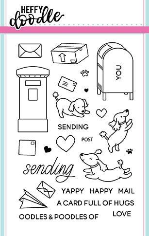 Heffy Doodle - Yappy Happy Mail Stamp and Die Combo Set