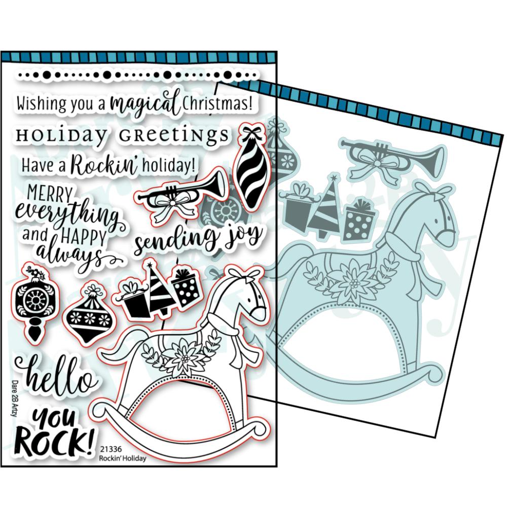 Dare 2B Artzy - Rockin' Holiday - Stamp and Die BUNDLE