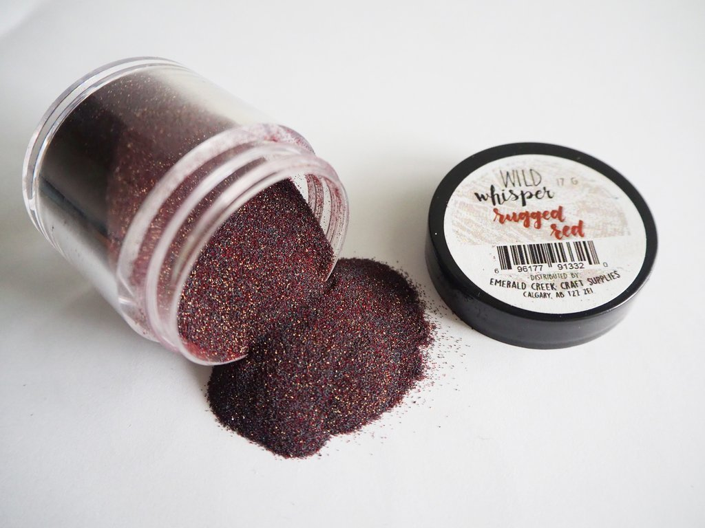 ^Wild Whisper Embossing Powder - Rugged Red (CLEARANCE)