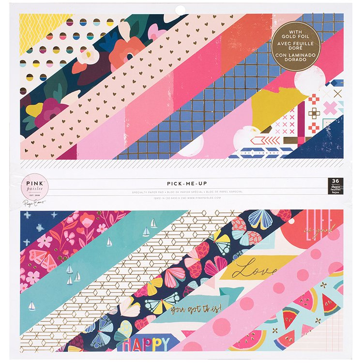 ^Pink Paislee - Pick Me Up - 12x12 Paper Pad with Foil Accents