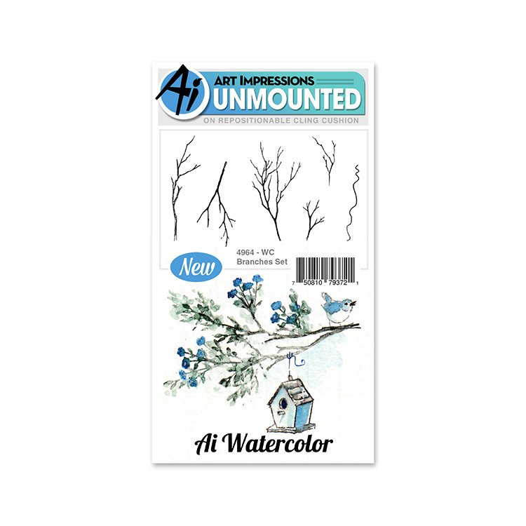 AI - Watercolor Stamp Set - Branches (WC4964)