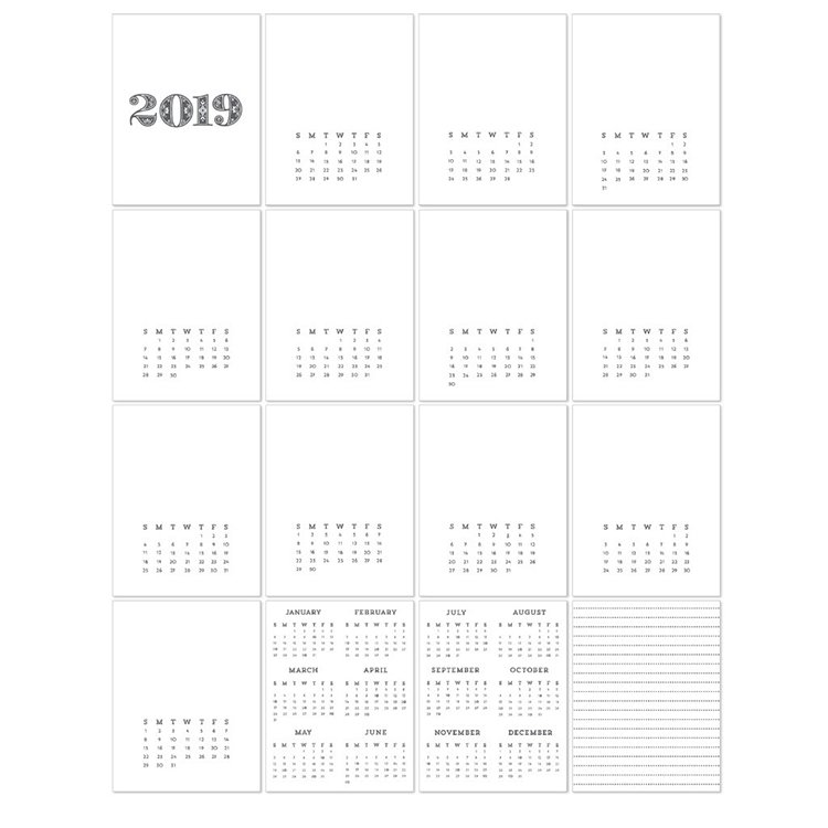^Concord & 9th 2019 Calendar Cards