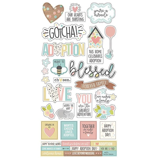 Simple Stories - Oh Baby Collection - 6x12 Cardstock Stickers (SO)