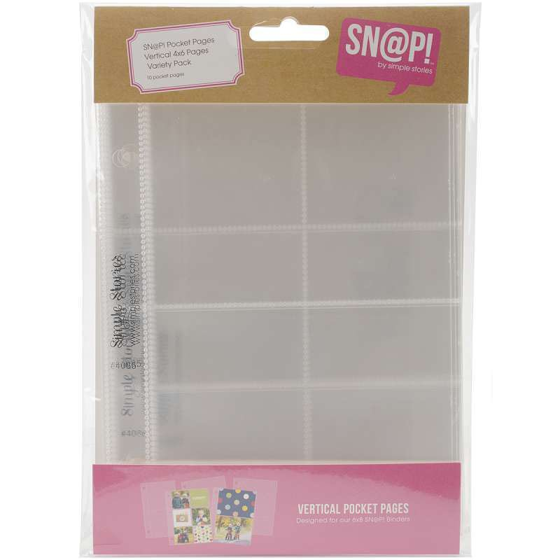 SNAP - Vertical 4x6 Pocket Pages Variety Pack 10/Pack