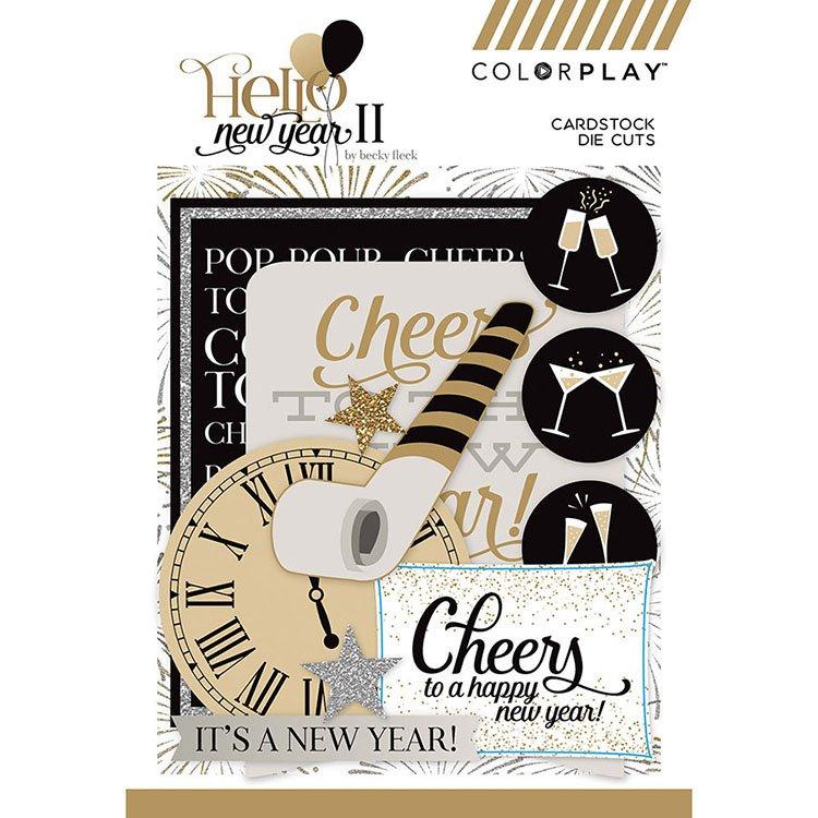 ^Colorplay - Hello New Year II - Cardstock Die Cuts